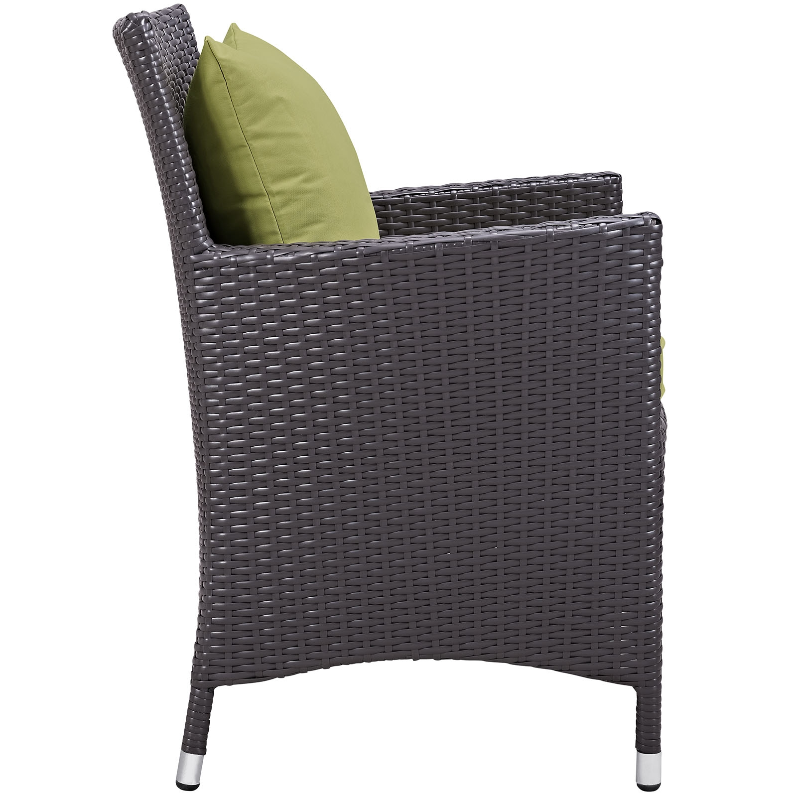 Rattan bistro chair side view