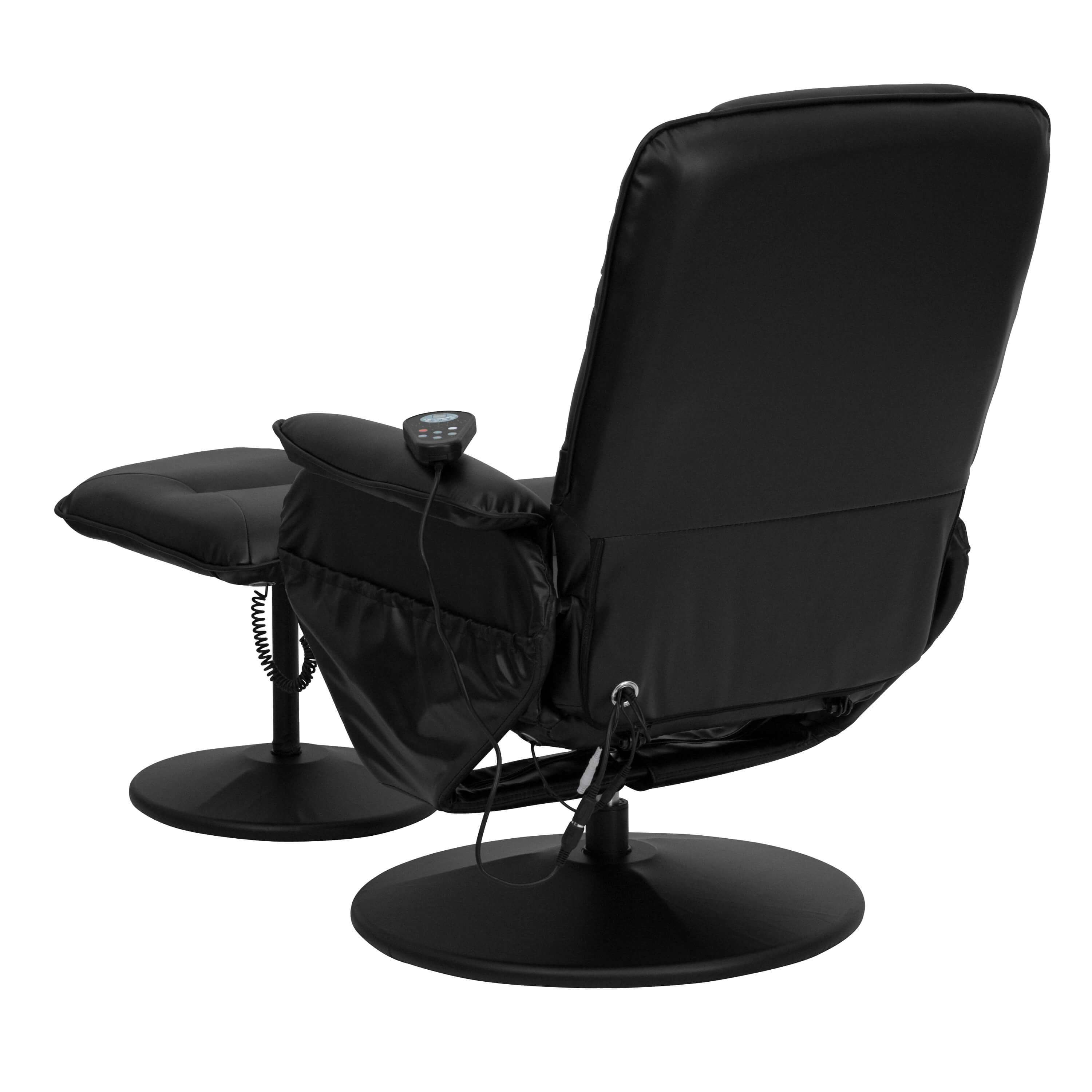 Recliner chair with massage back view