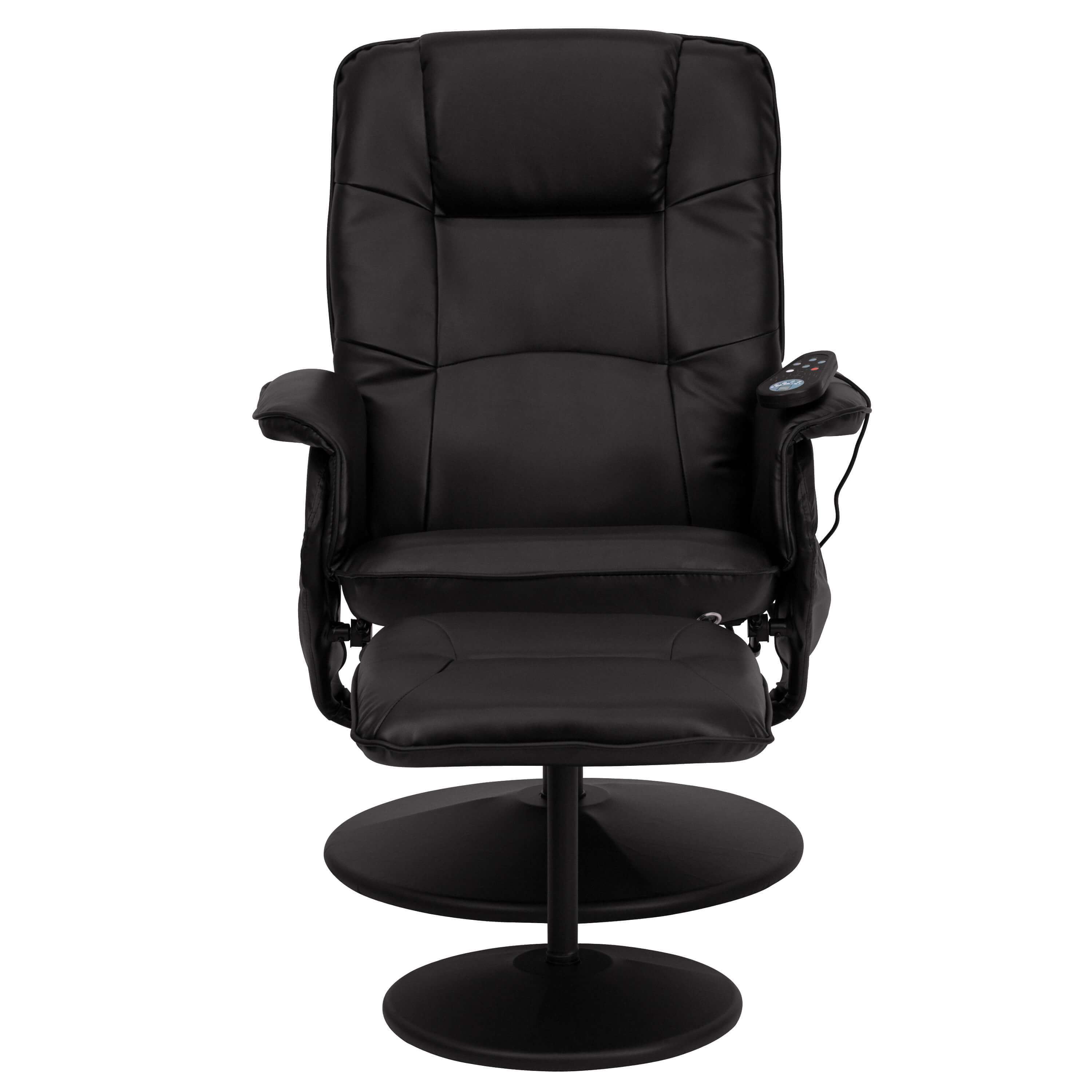 Recliner chair with massage front view