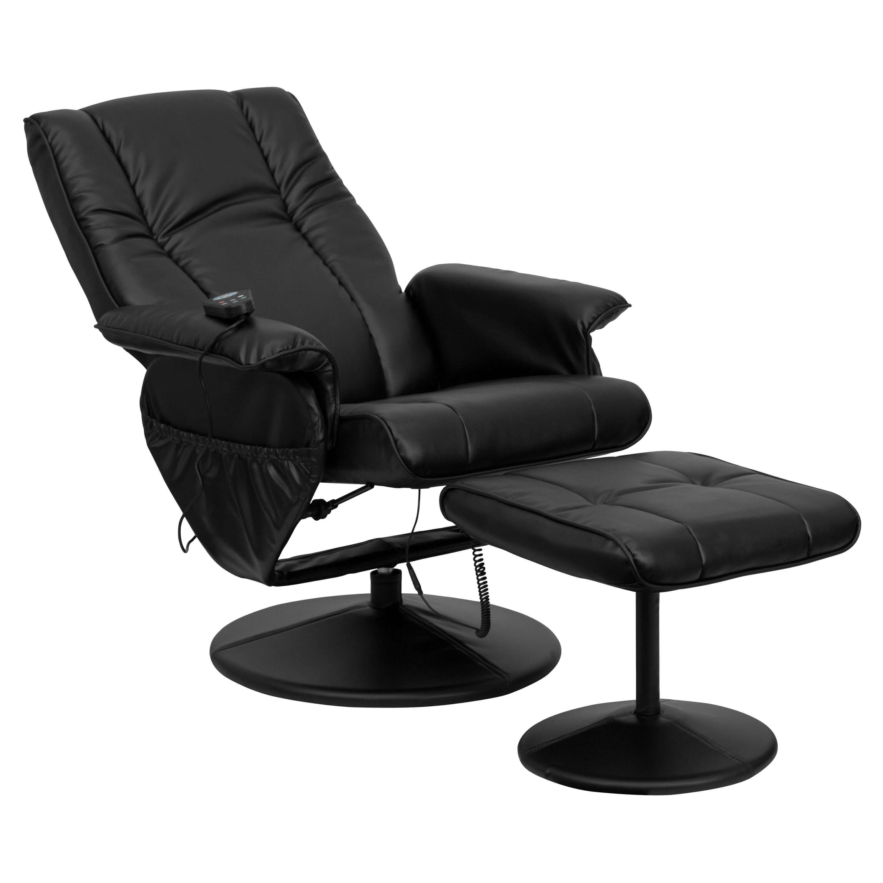Recliner massage chair reclined view