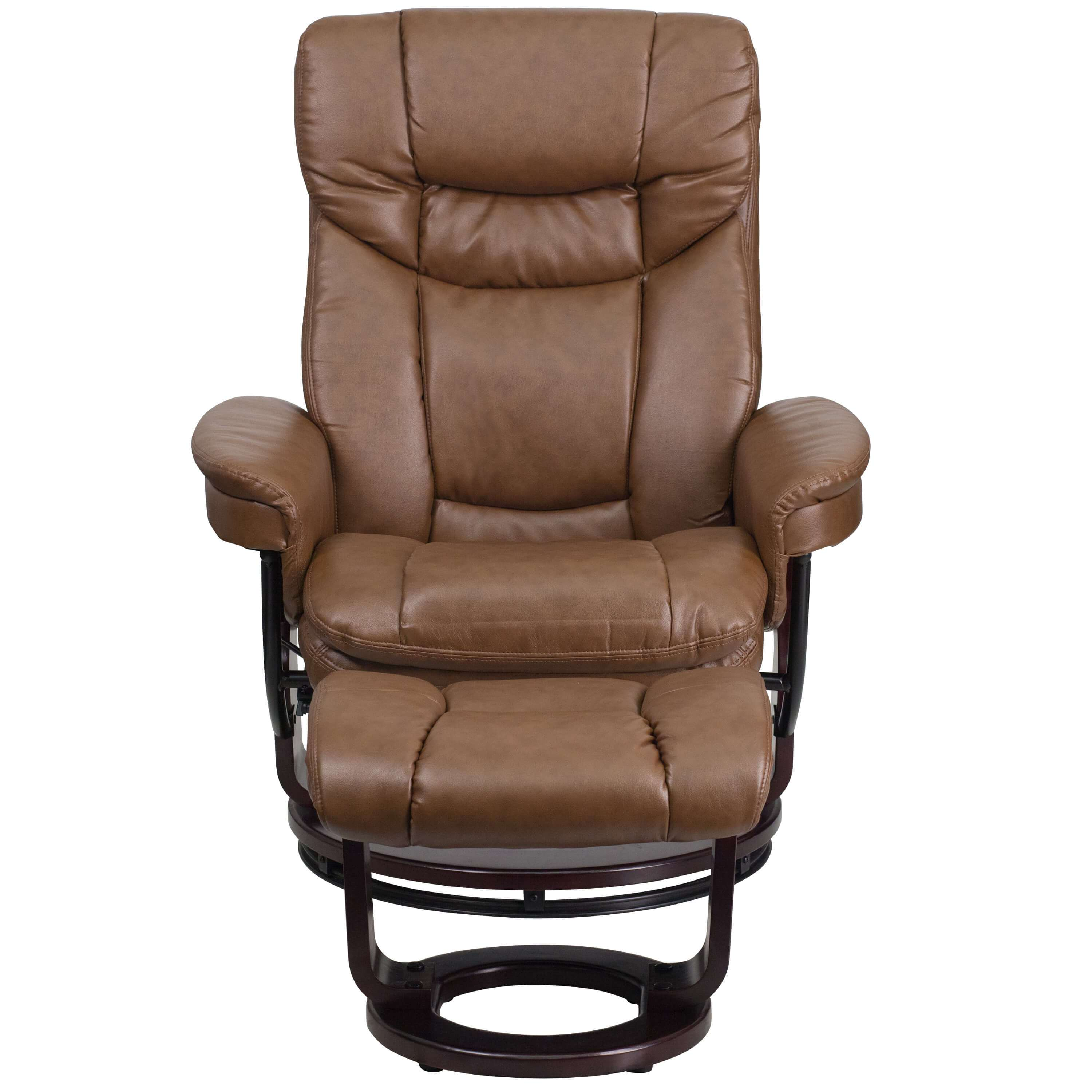 Reclining armchair front view