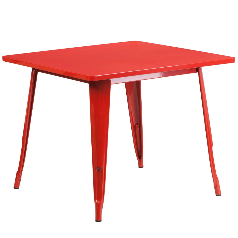 Restaurant tables CUB ET CT002 1 RED GG FLA