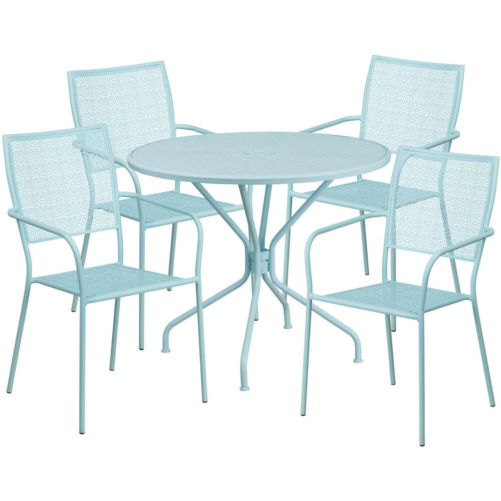 35 25 Inch Garden Bistro Set 4 Chairs