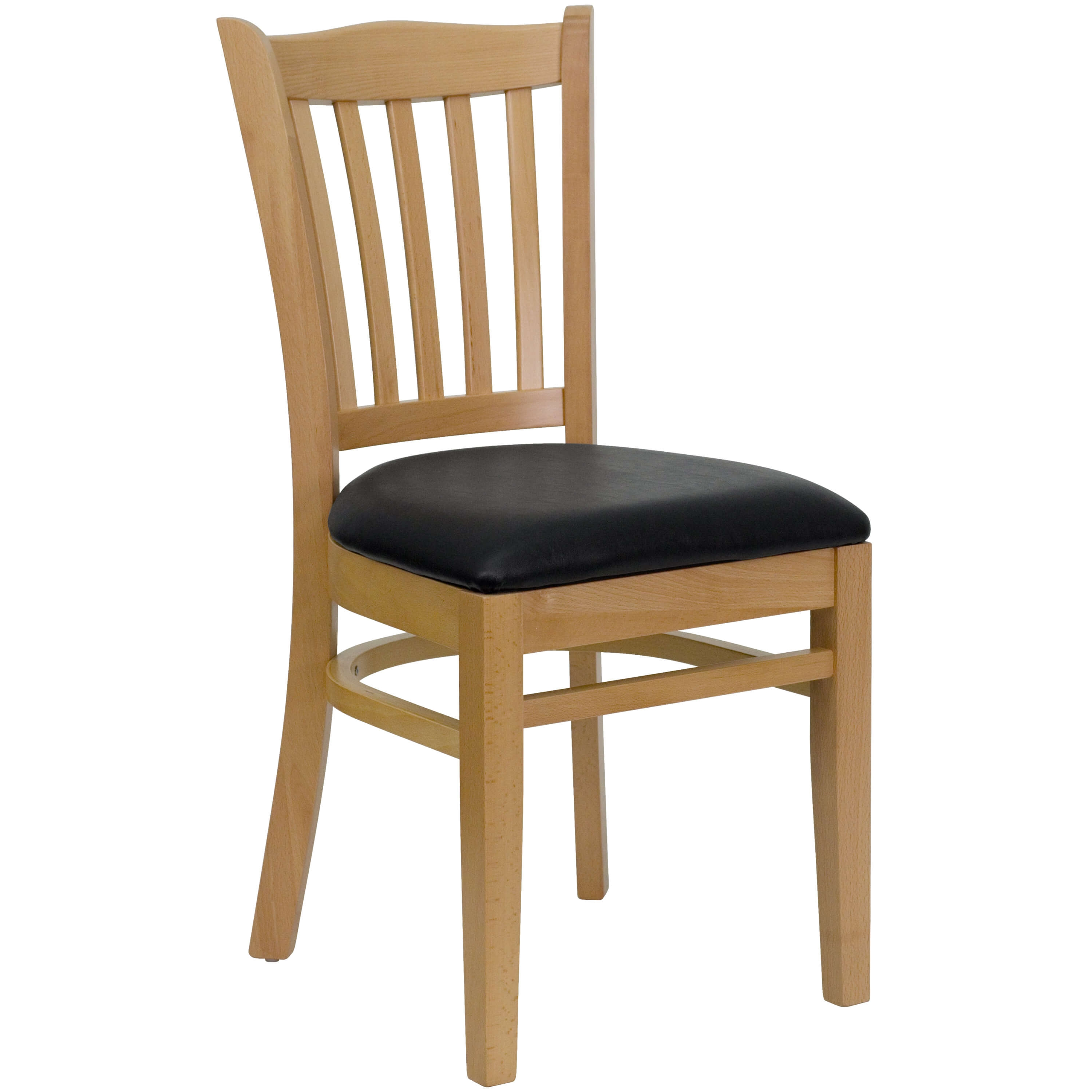 Restaurant tables and chairs vertical slat back chair
