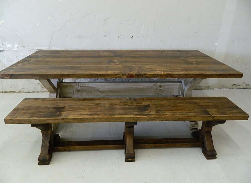 Williamsburg Rustic Farmhouse Dining Table