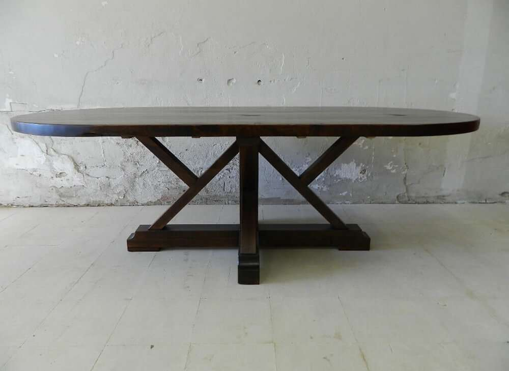 Newbury Rustic Wood Kitchen Table