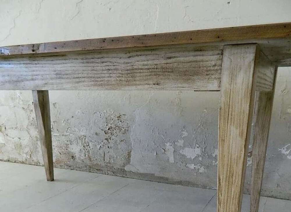 Rustic kitchen tables side view