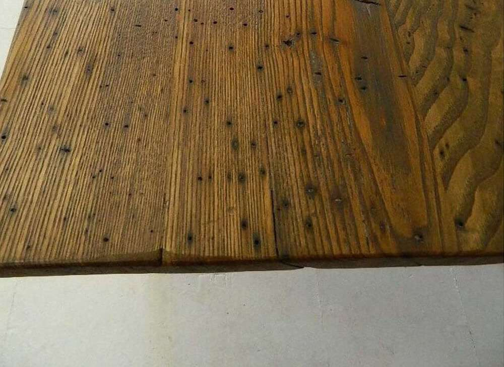 Rustic kitchen tables top view