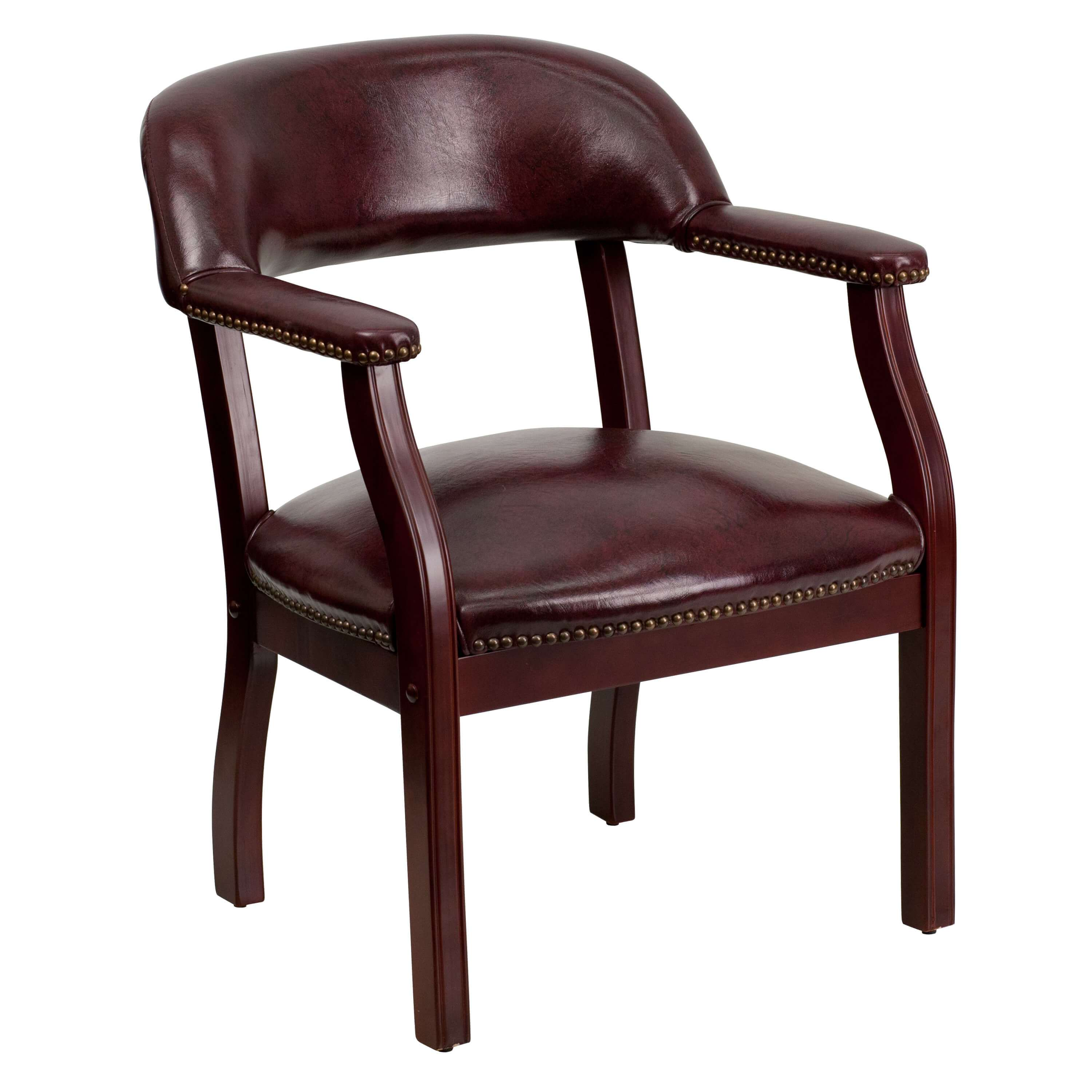 Side chairs with arms CUB B Z105 OXBLOOD GG FLA