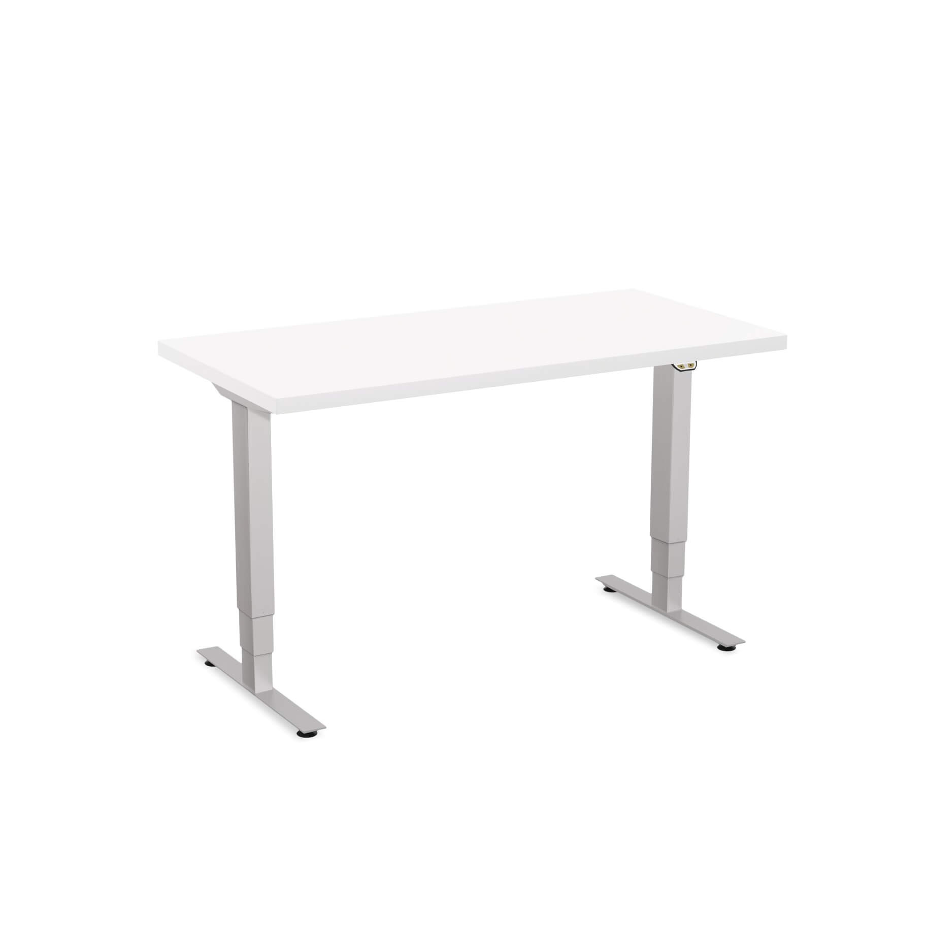 Sit stand desk adjustable CUB 1D PATR 2448 WH EPS 1