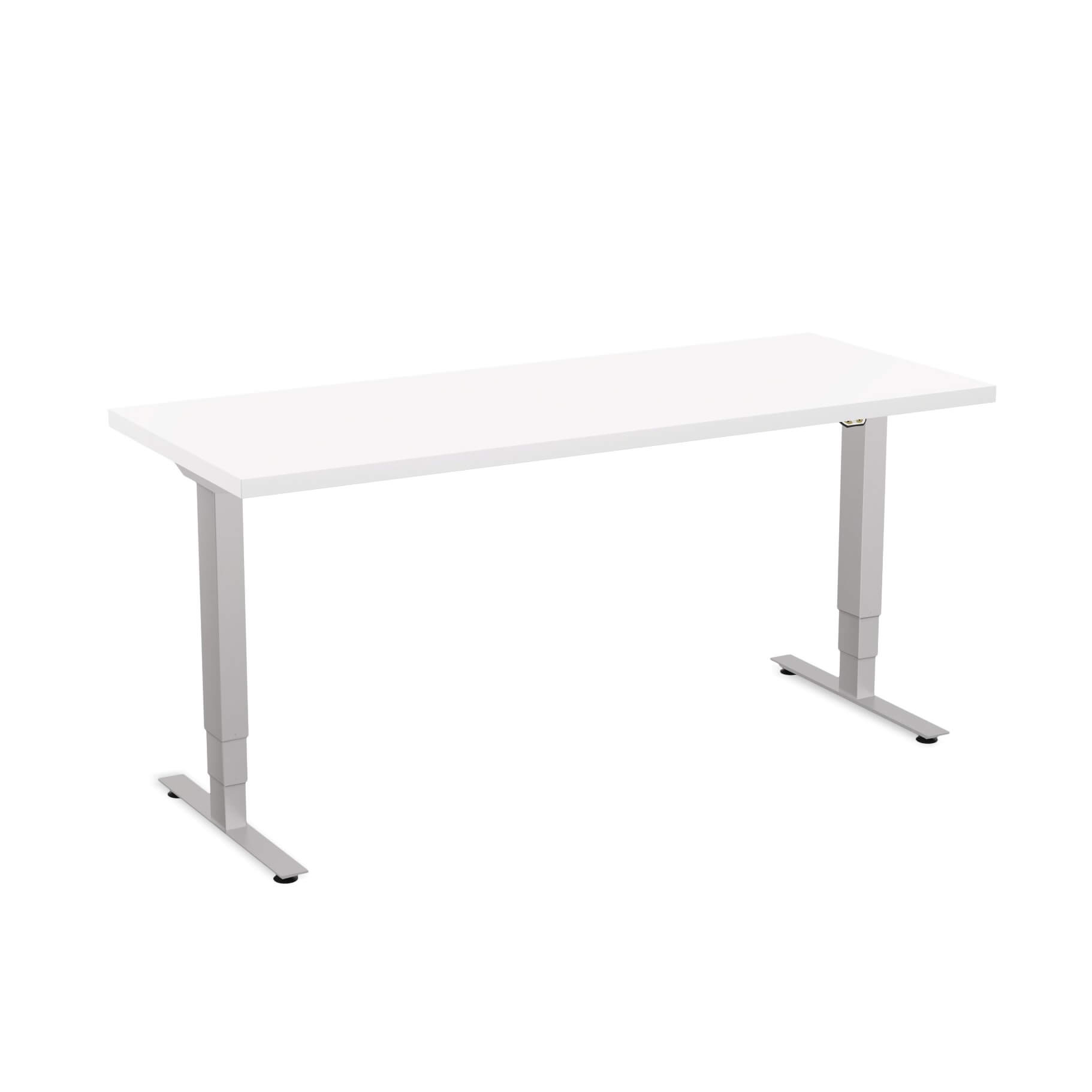 Sit stand desk adjustable CUB 1D PATR 2460 WH EPS