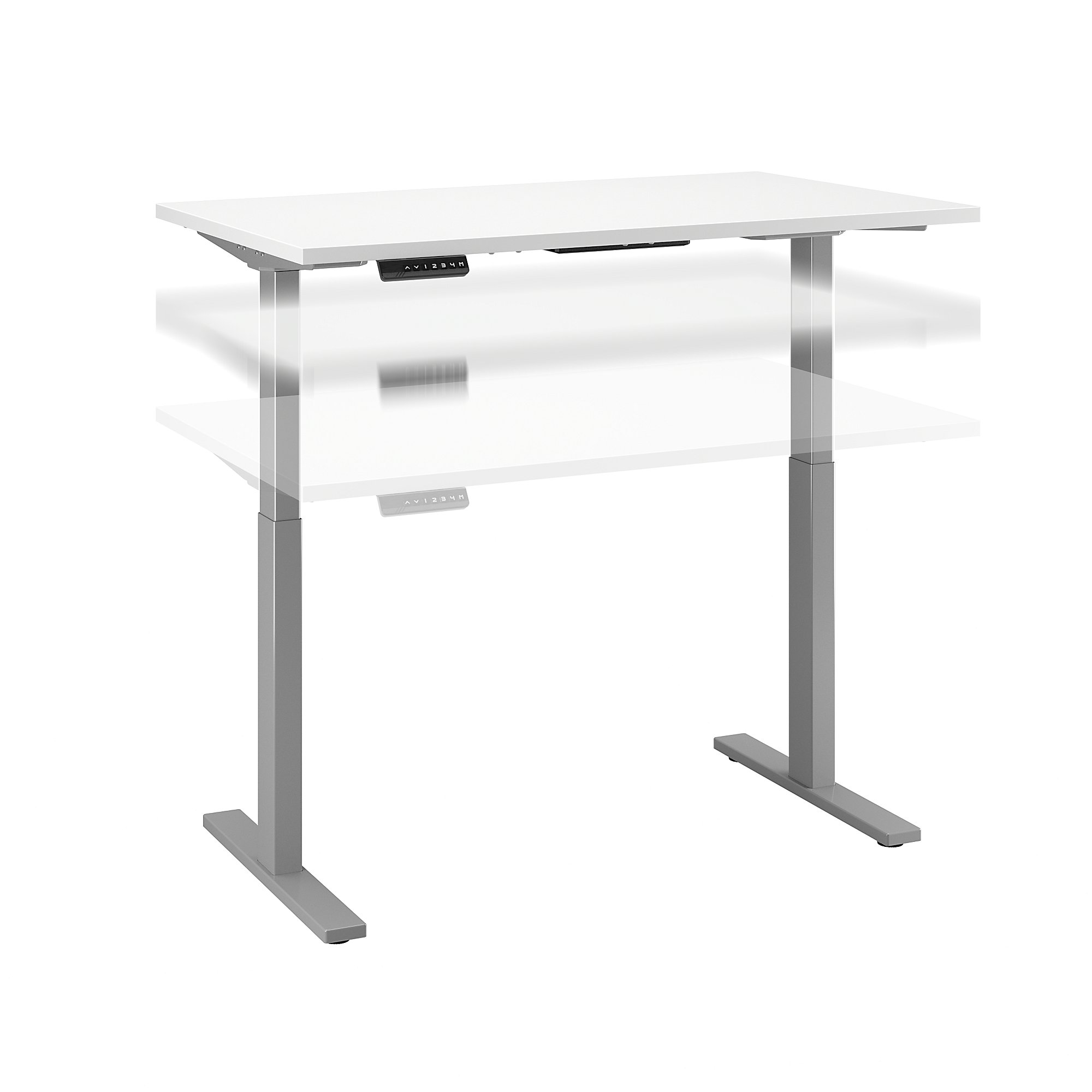 Sit stand desk converter dual monitor height