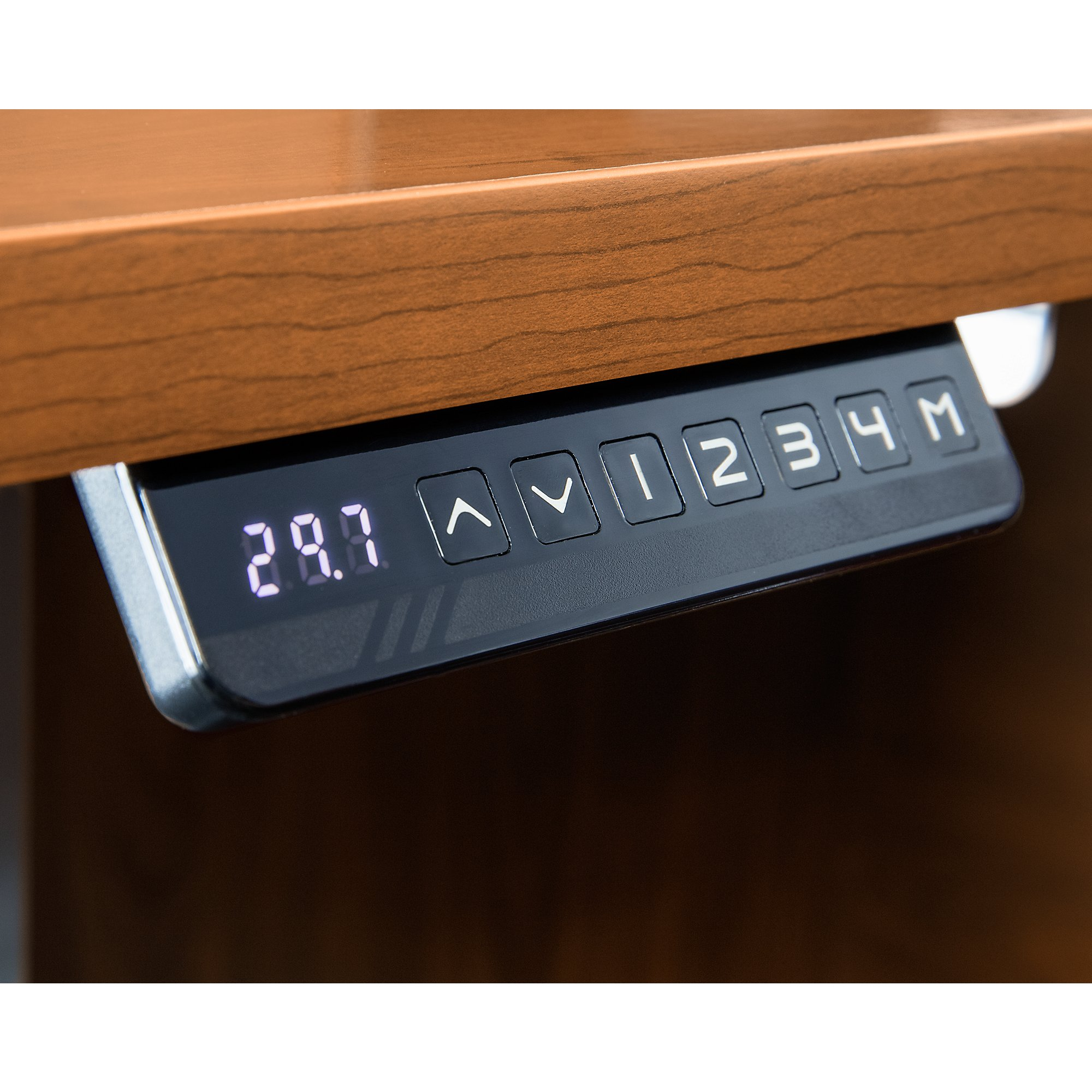 Sit stand desk corner thermostat