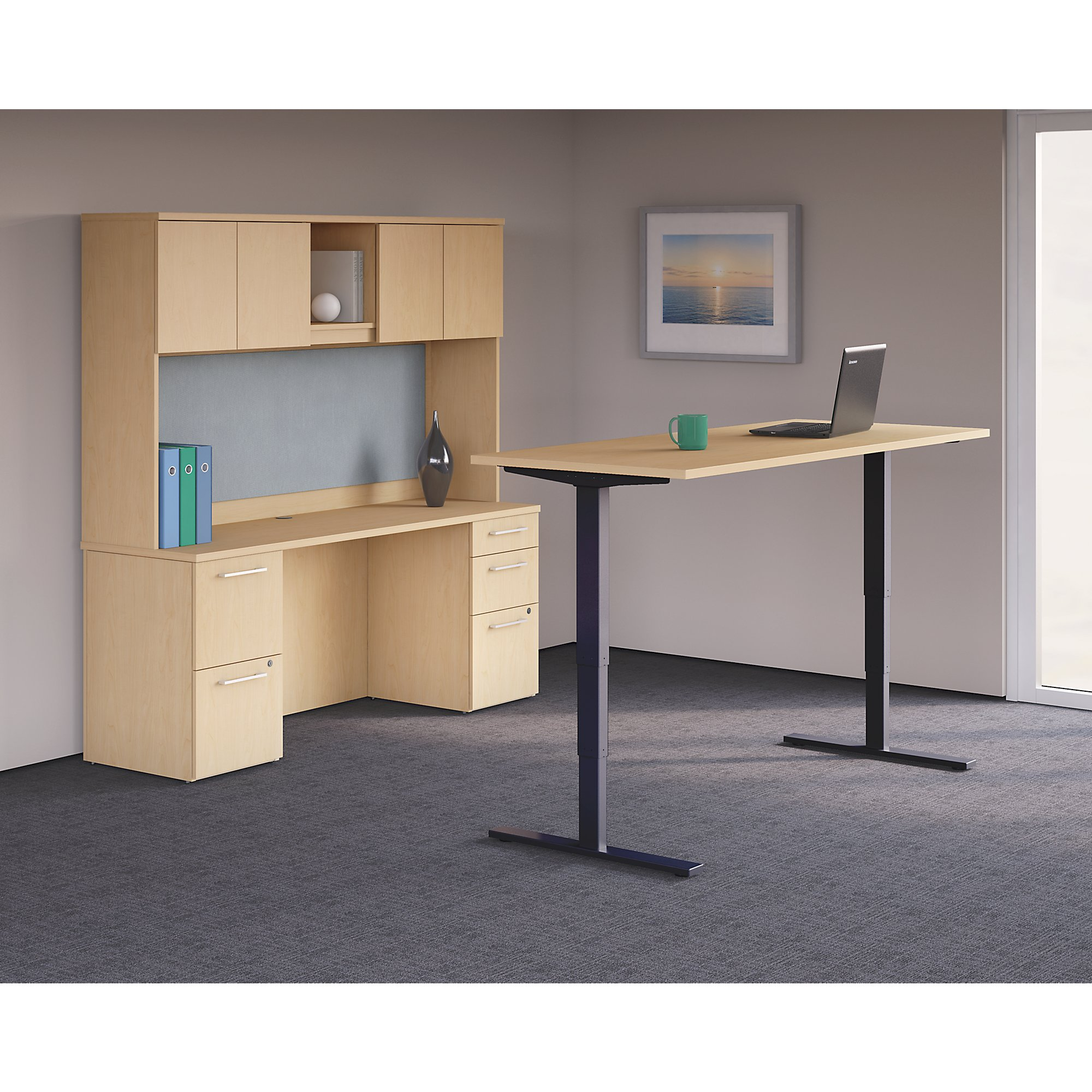 Sit stand desk electric environmental 1 2
