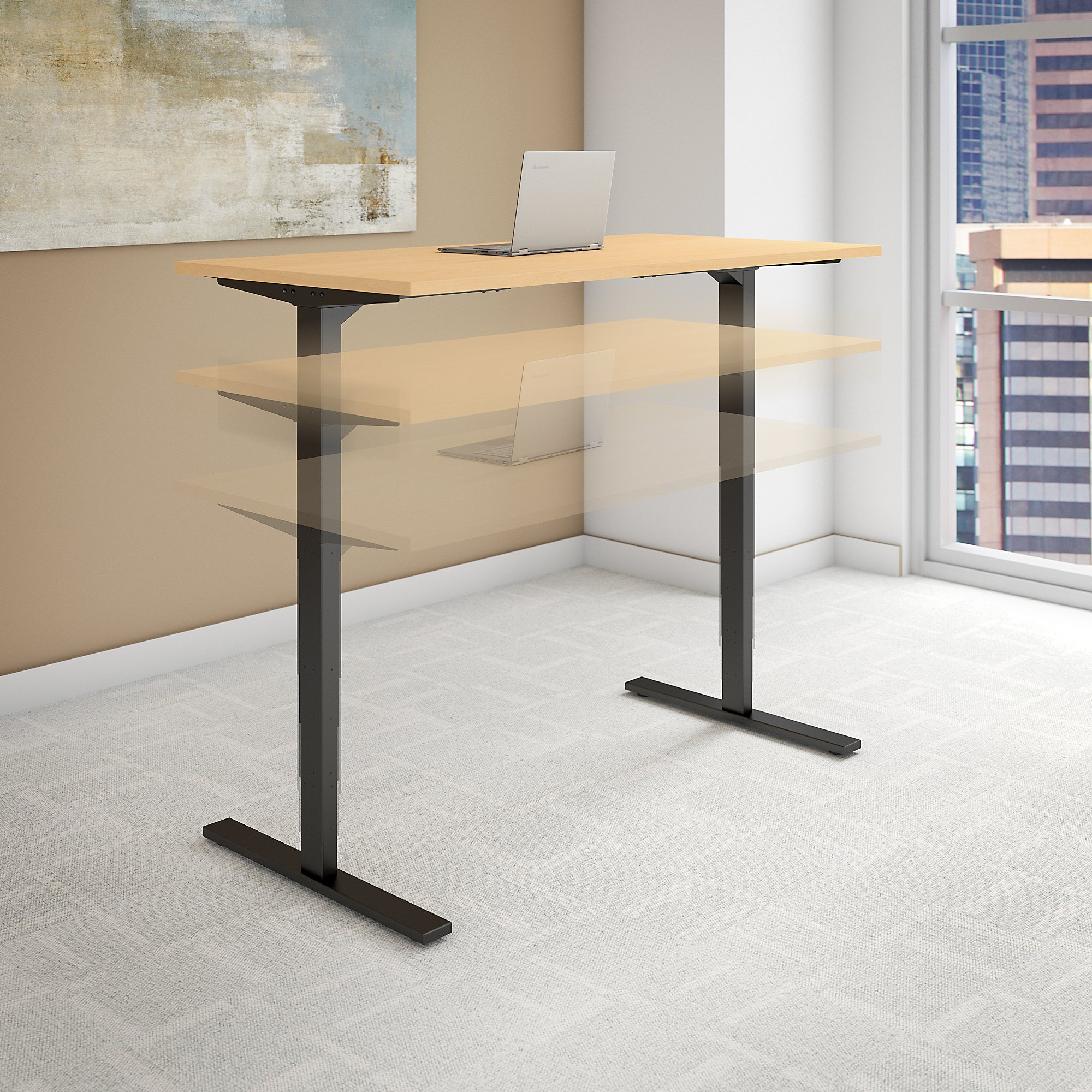 Sit stand desk electric height 1 2