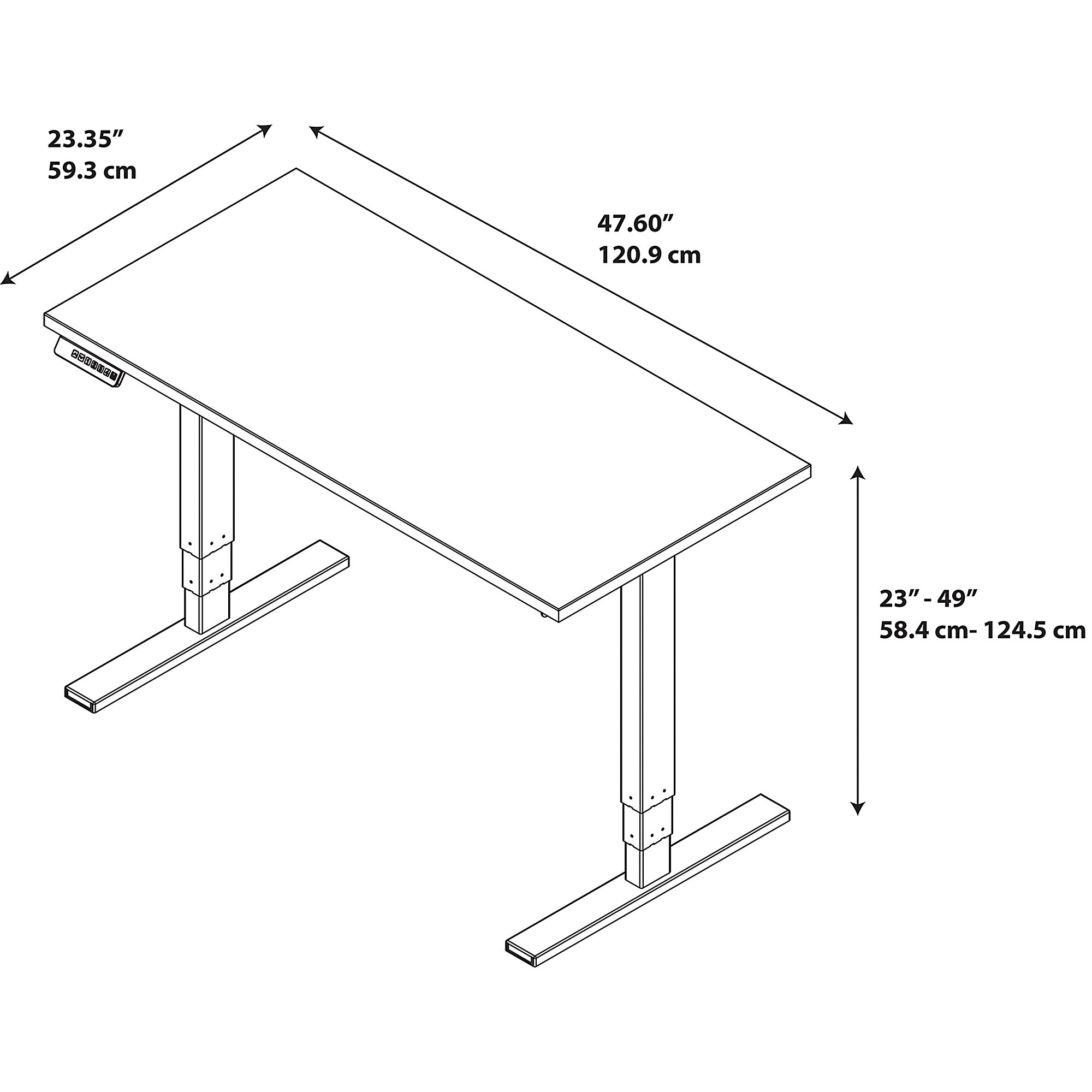 Sit stand desk electric layout 1 2