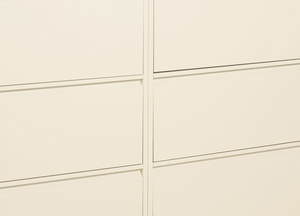 Small file cabinets horizontally aligned