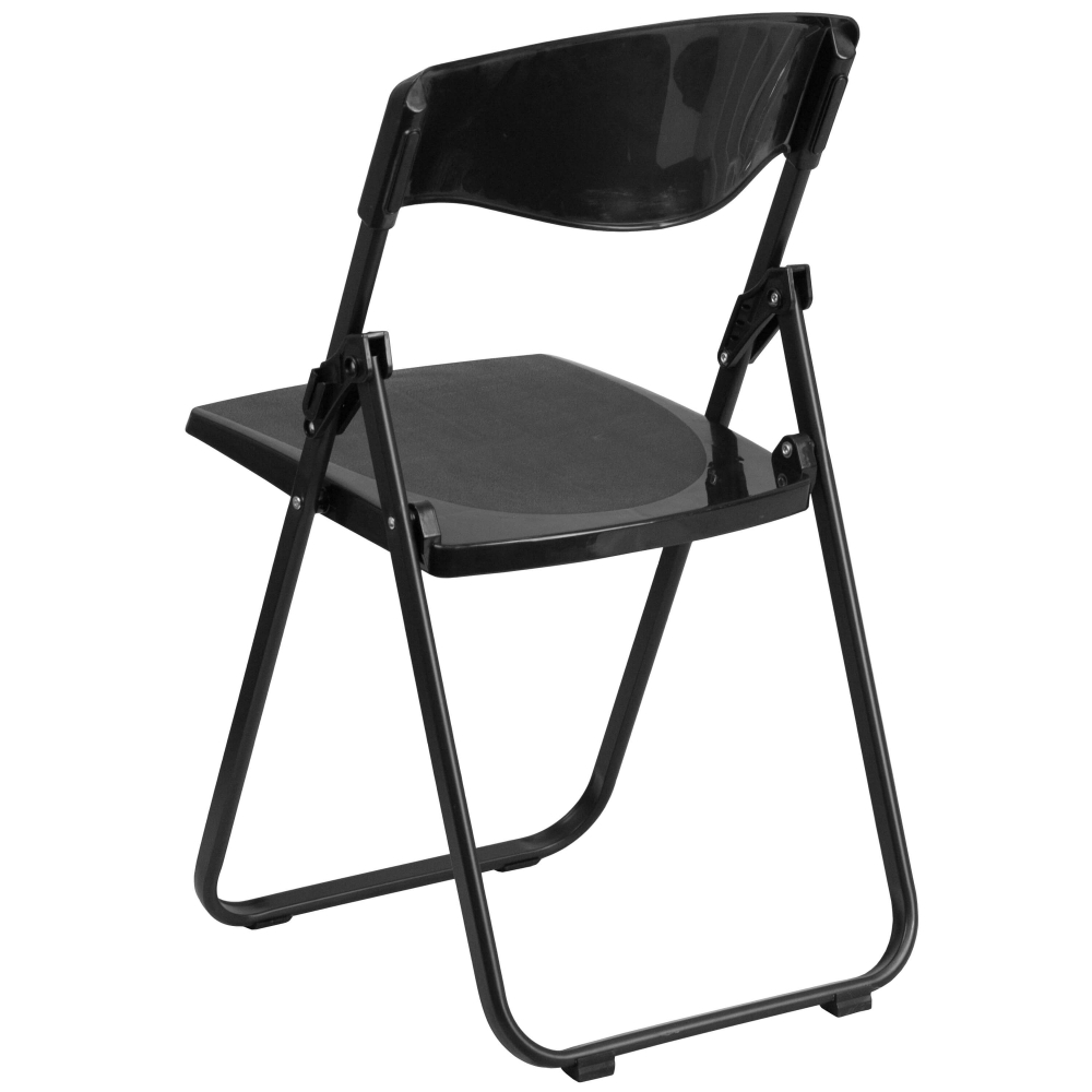 Small folding camping chair rear view