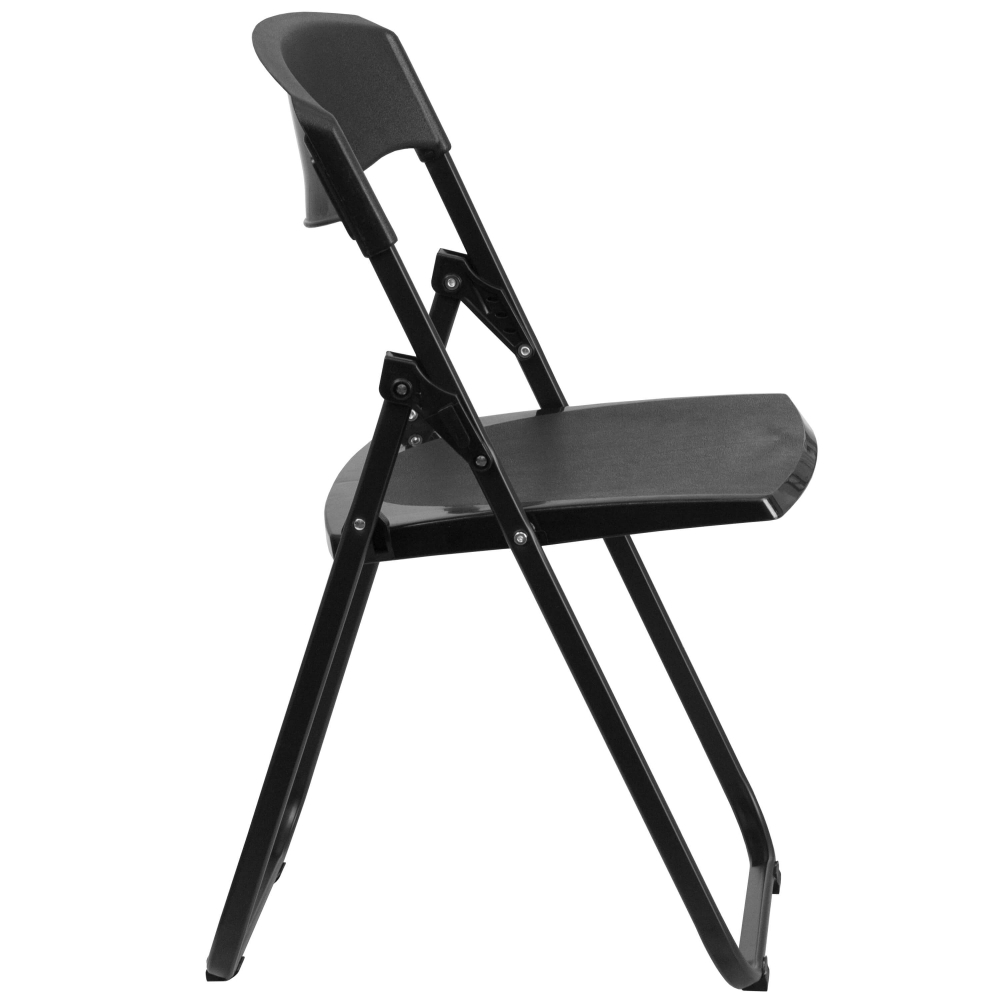 Small folding camping chair side view