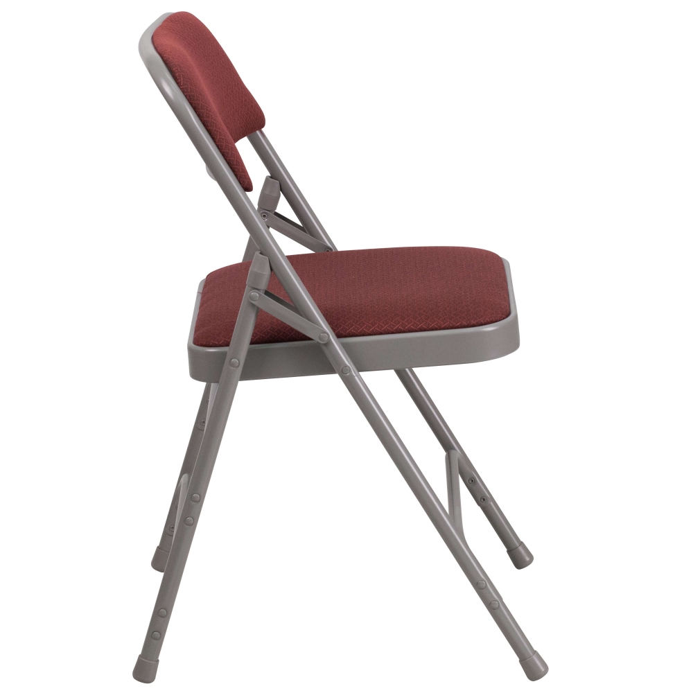 Small folding chair side view
