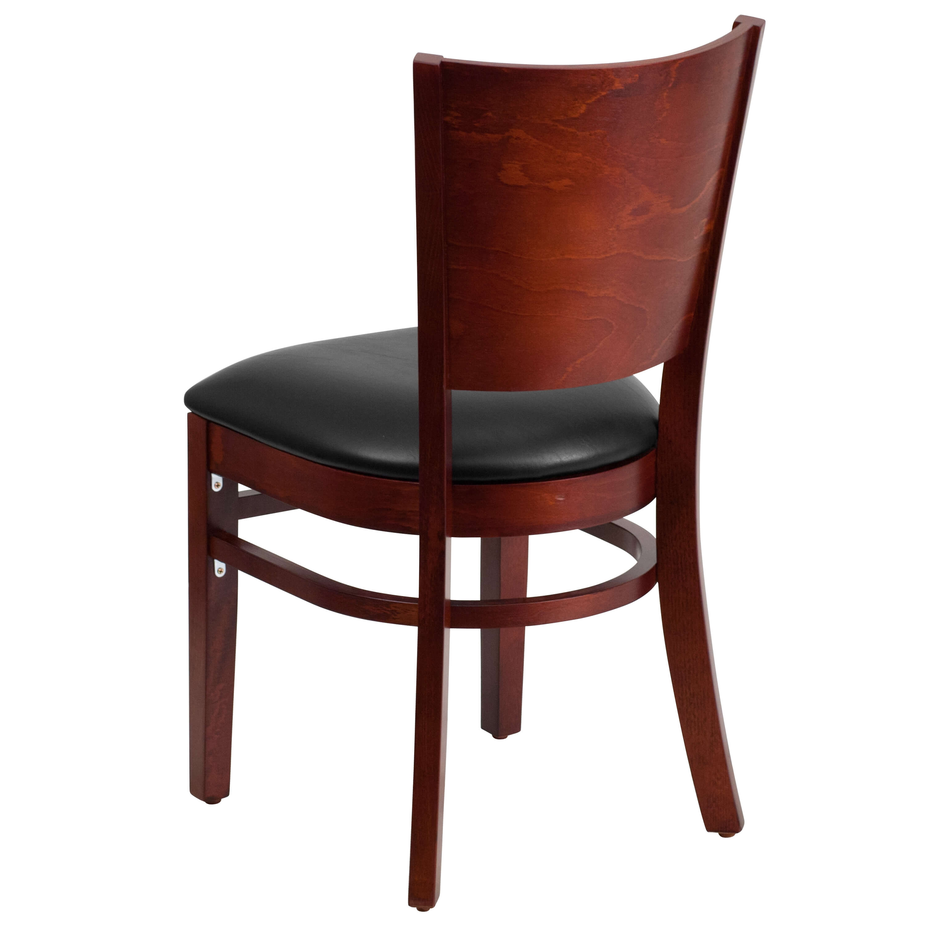 Solid wood dining chairs back view