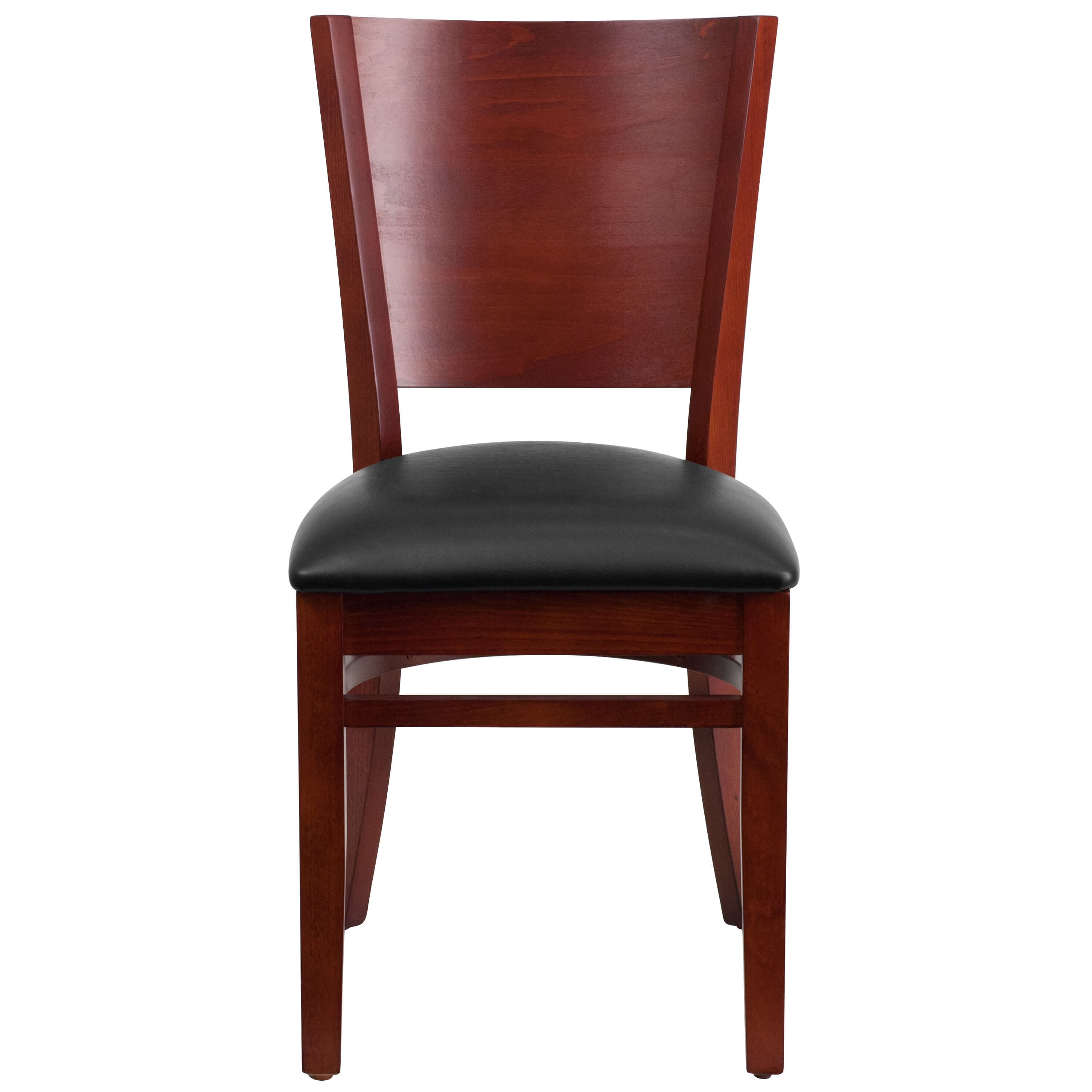 Solid wood dining chairs front view