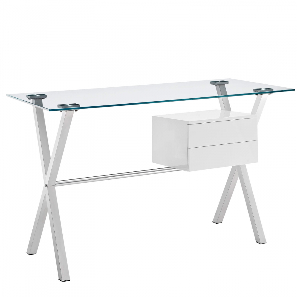 Space saving desk cub eei 1181 whi mod