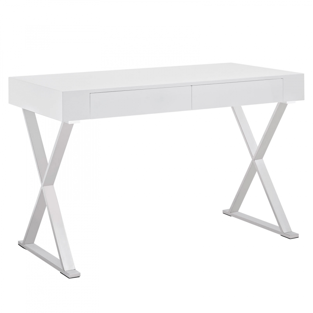 Space saving desk cub eei 1183 whi mod