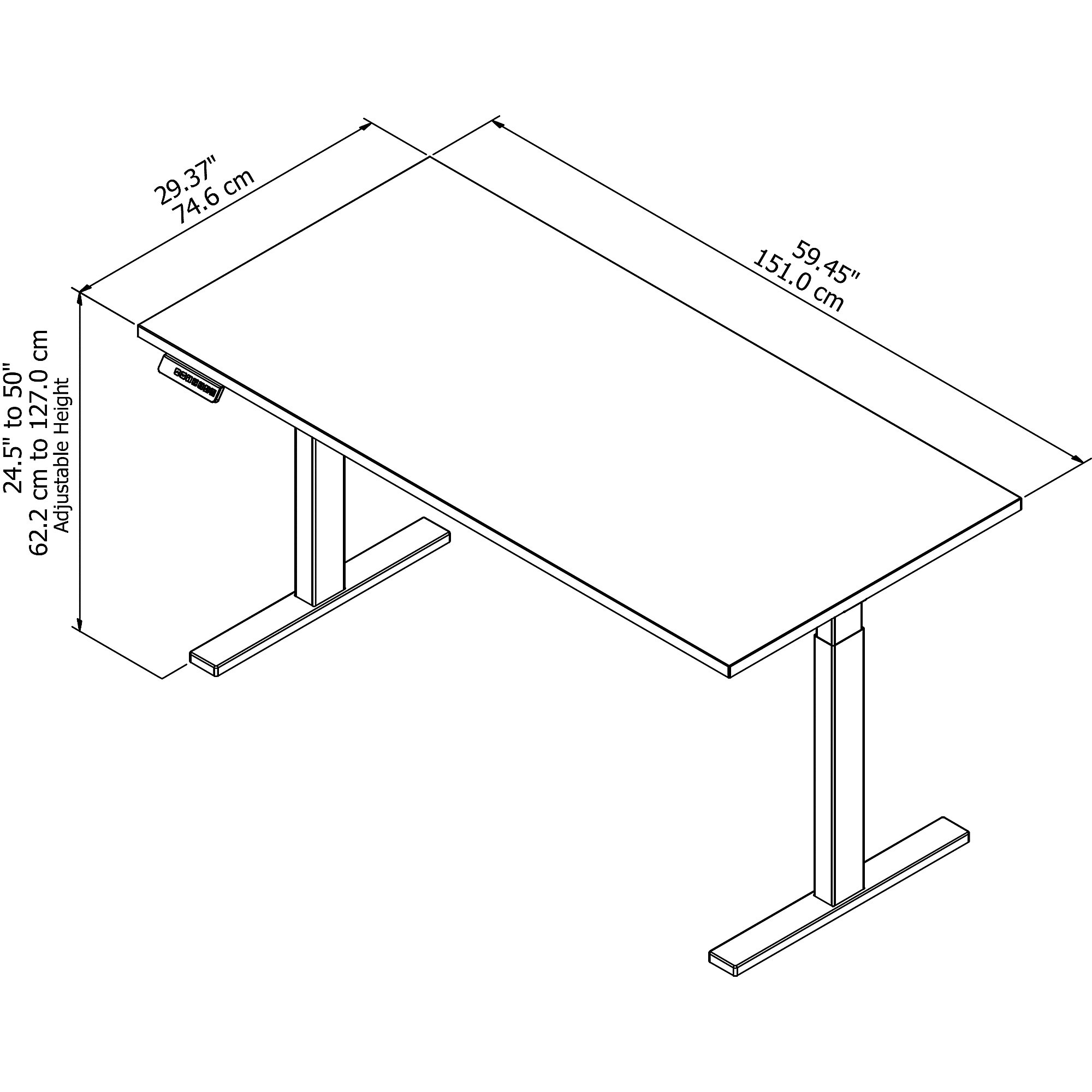 Stand up computer desk layout
