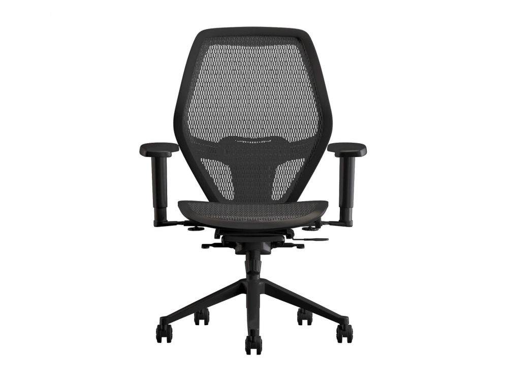 Swivel desk chairs front view