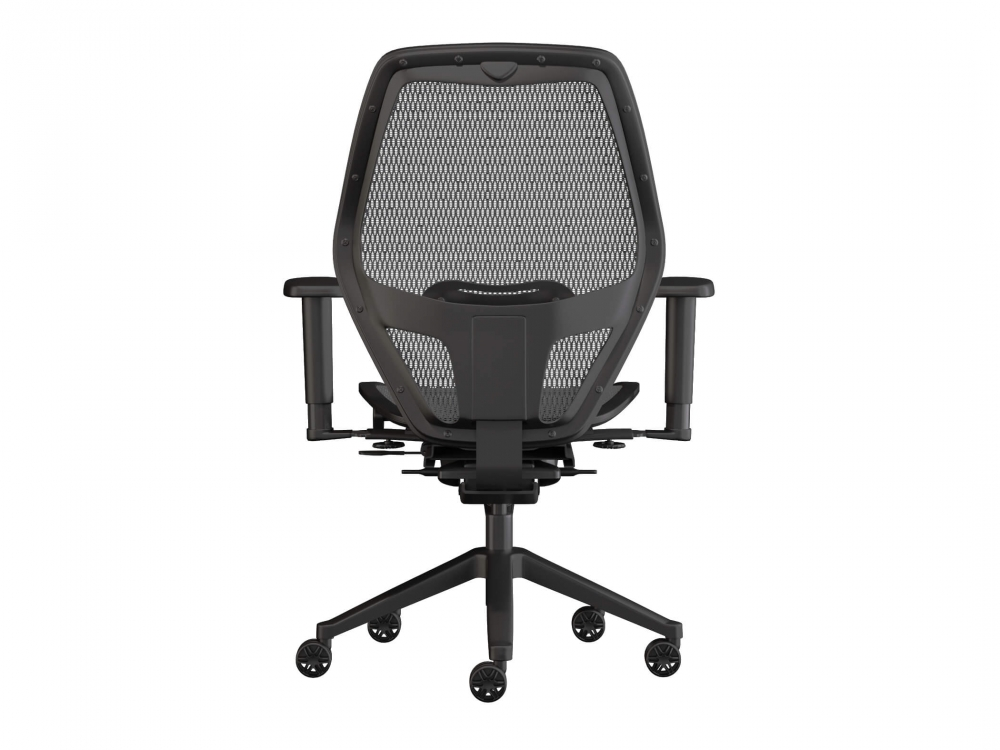 Swivel desk chairs rear view