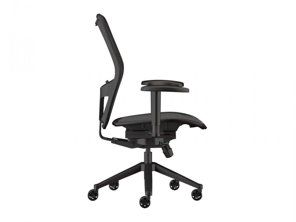 Swivel desk chairs side view