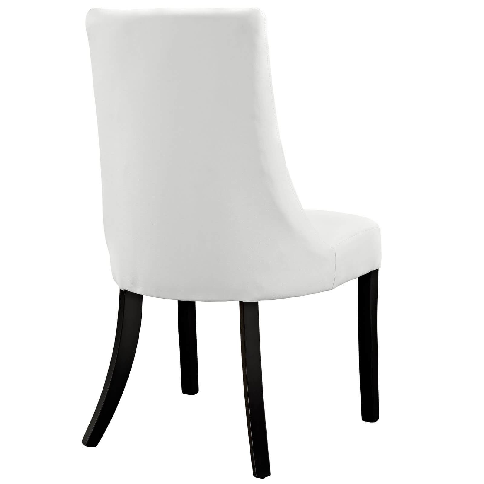 Upholstered dining chair back view