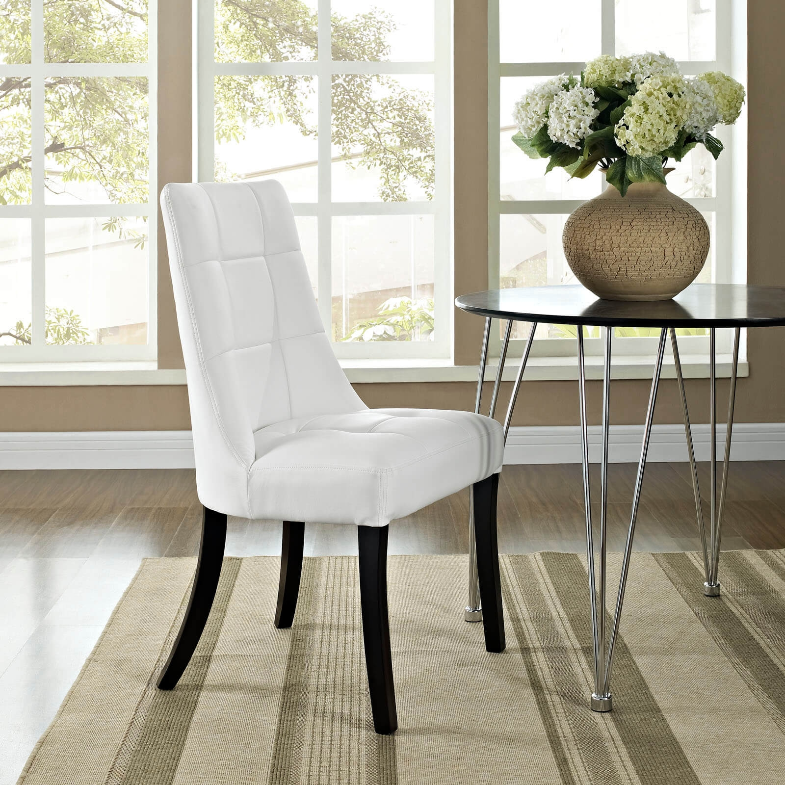 Upholstered dining chair environmental