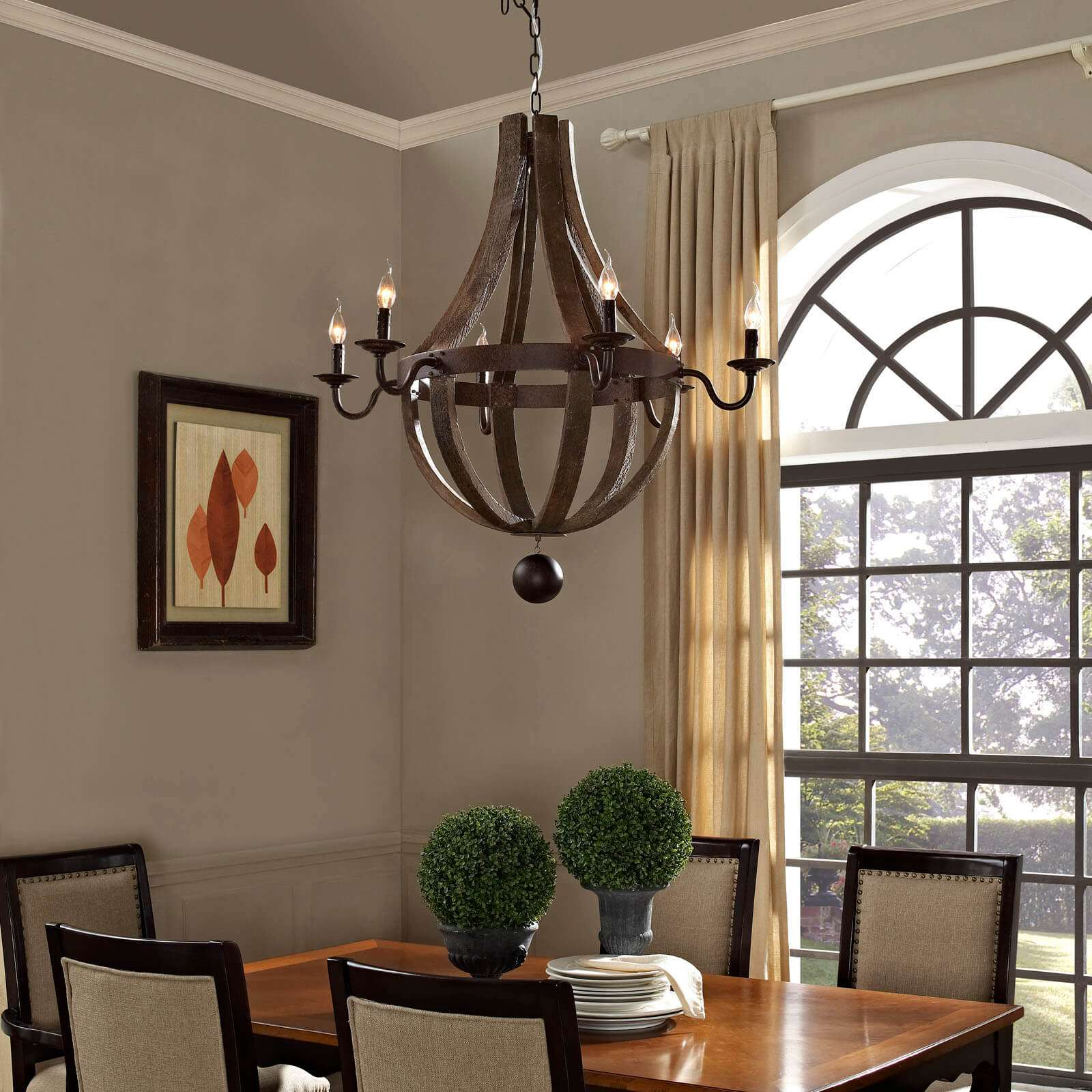 Vintage ceiling light fixtures environmental view