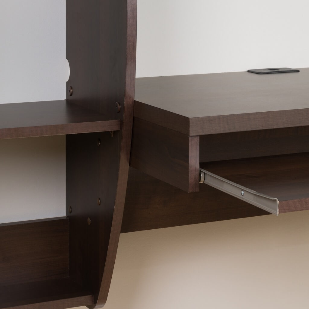 Wall mount laptop desk detail