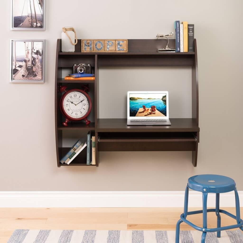 Wall mount laptop desk environmental