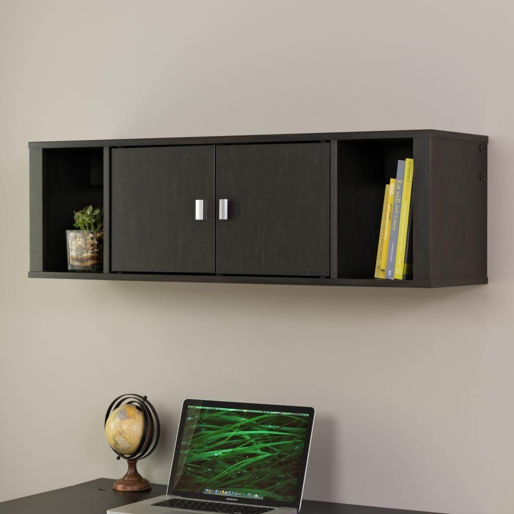 Wall mounted desk hutch environmental 1