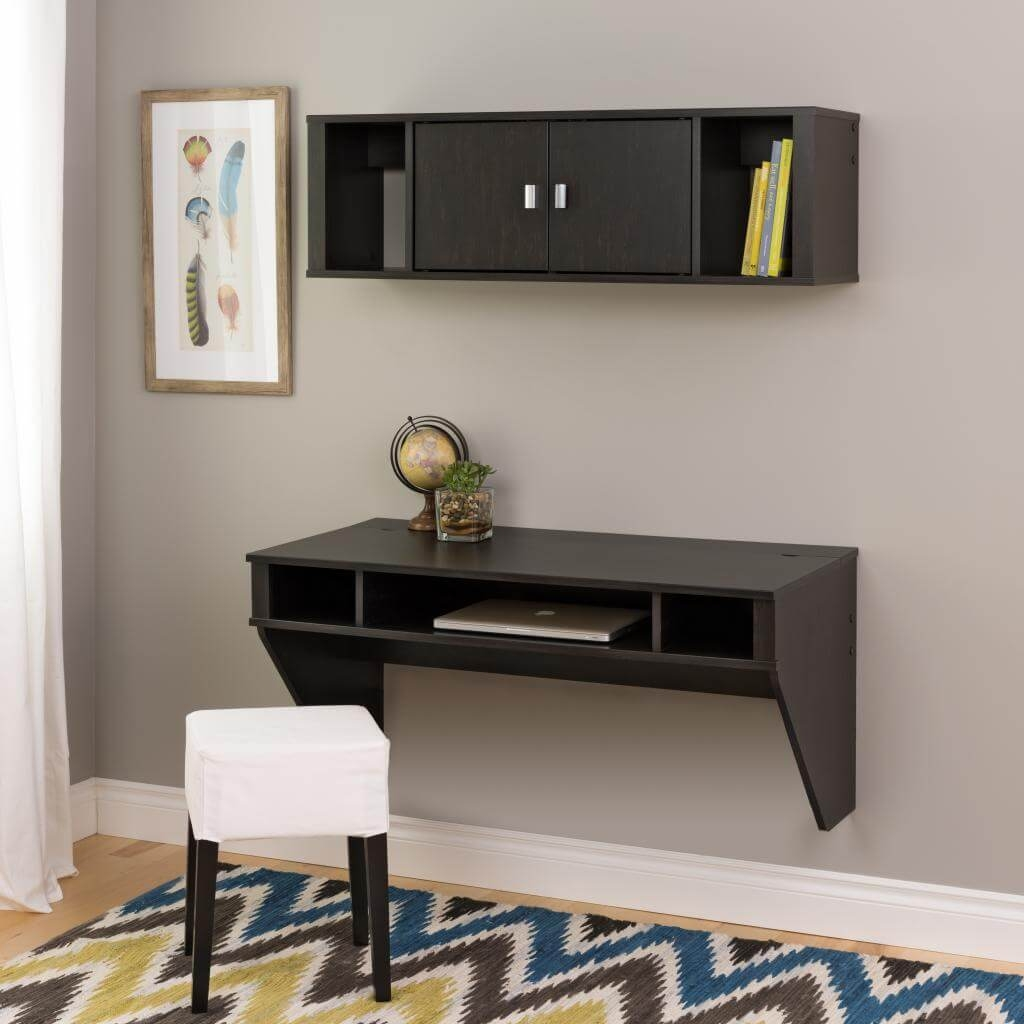 Wall mounted desk hutch environmental 3