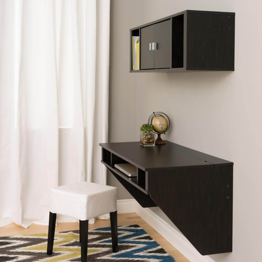 Wall mounted desk hutch environmental 4