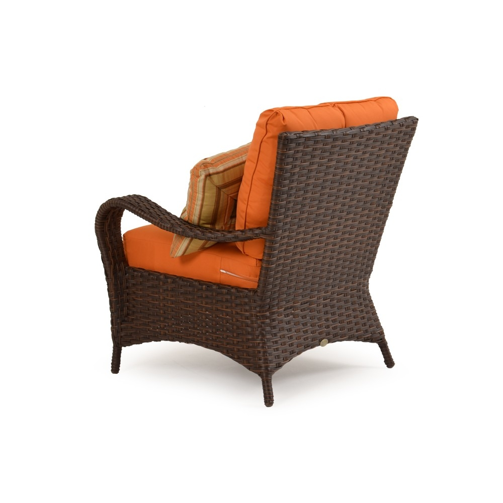 Wicker lounge chair rear view