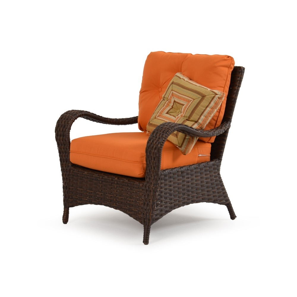Wicker lounge chair side view