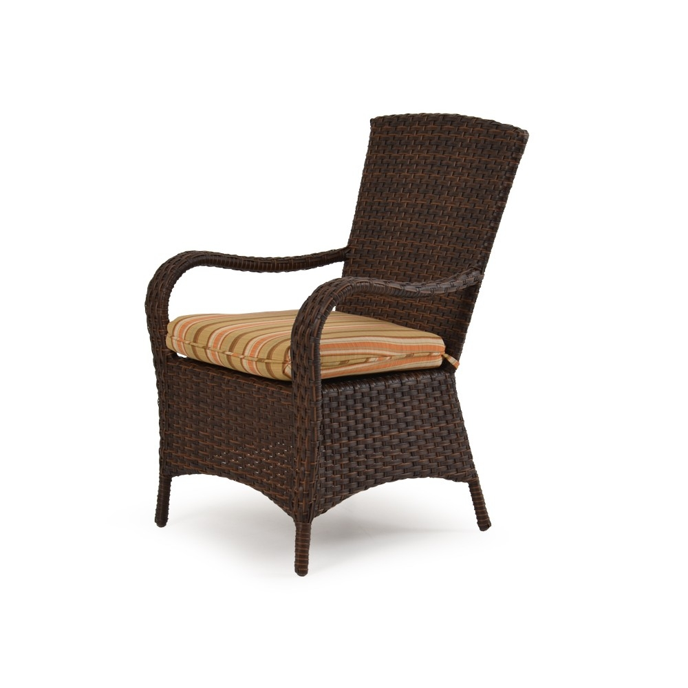 Wicker patio chairs side view