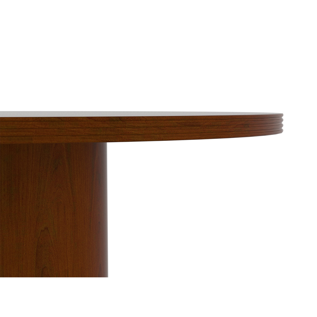 Wood executive office desk top edge