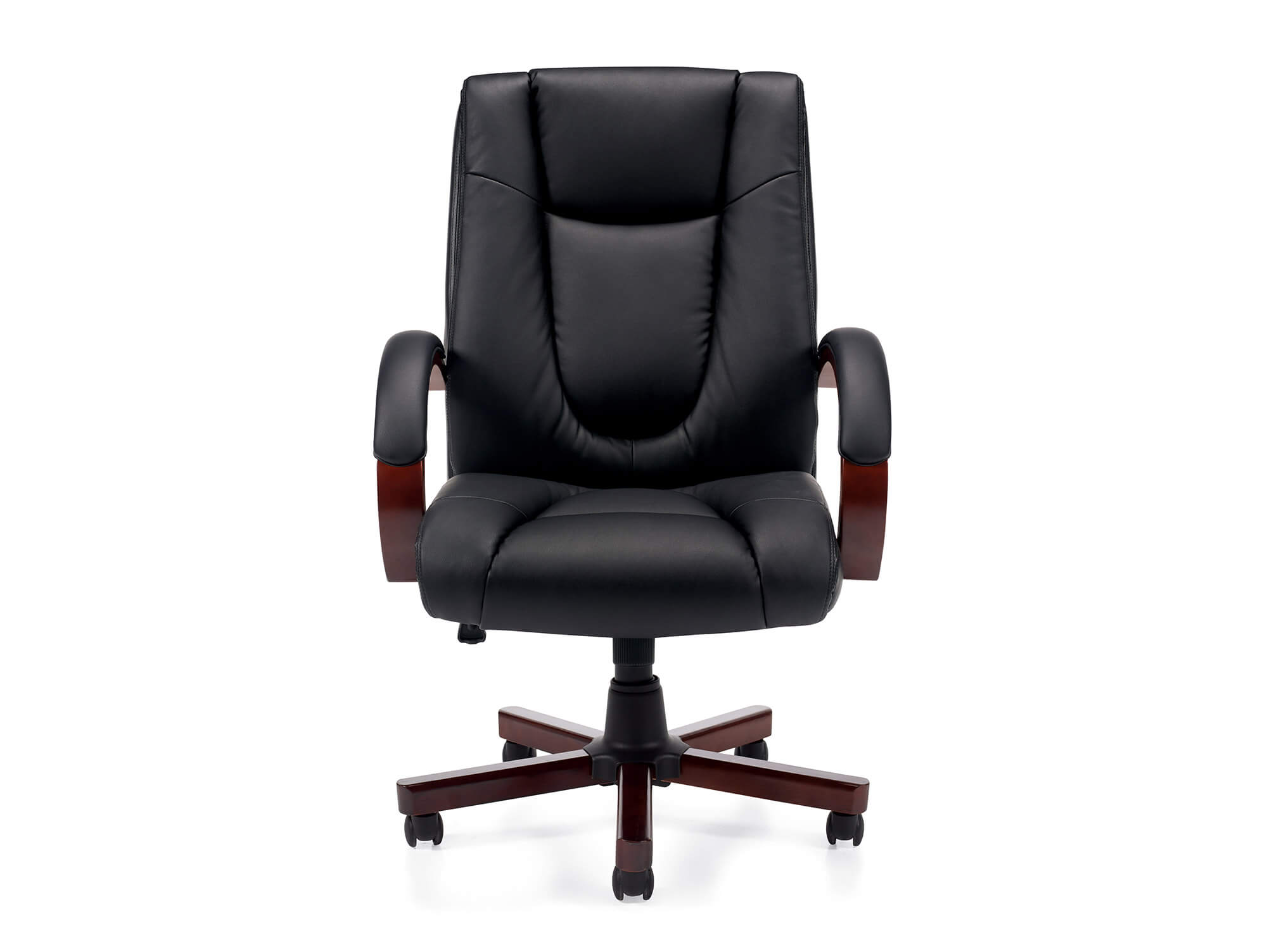 Wood office chair front