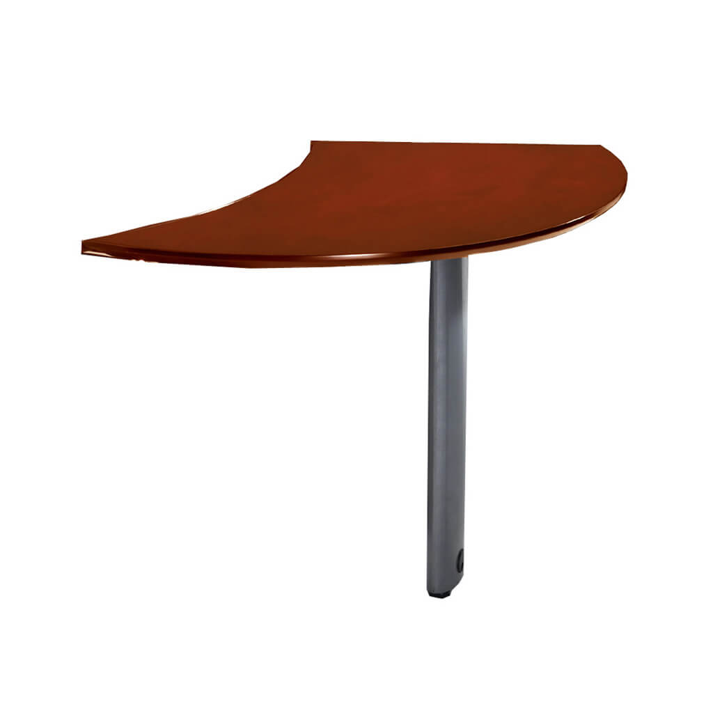 Wood office desk curved desk extension left