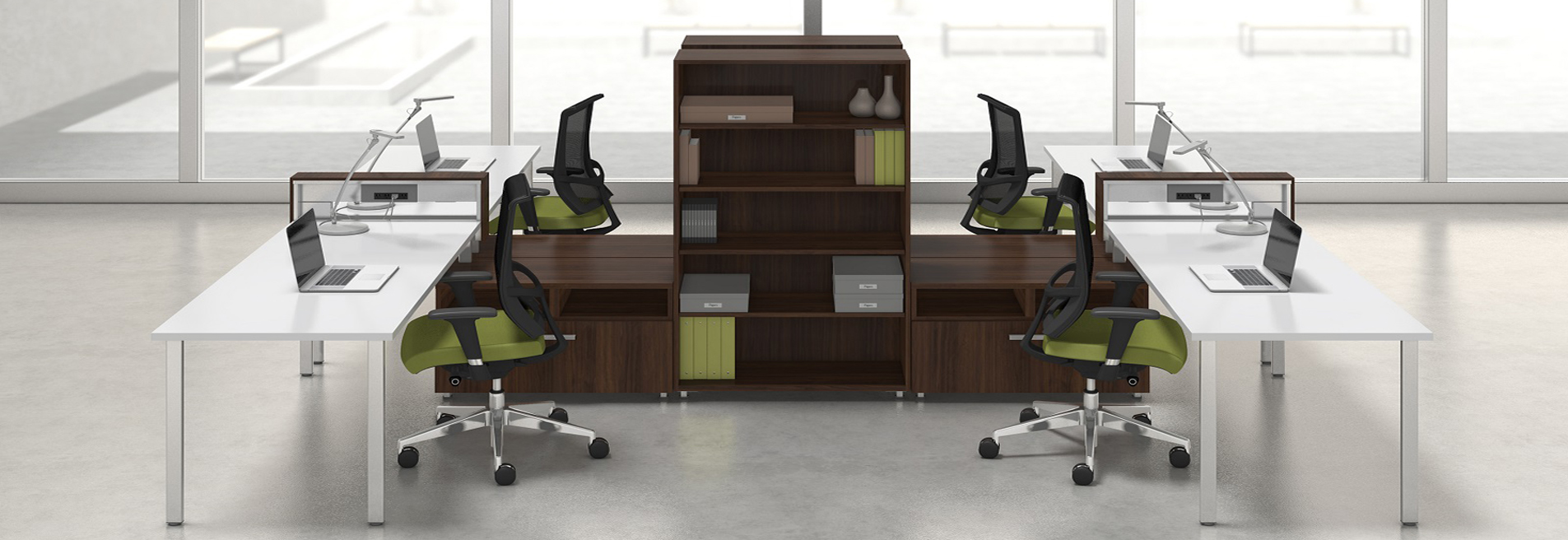Open office cubicles Classroom Embrace The Open Office Environment Fabricmate Office Workstations