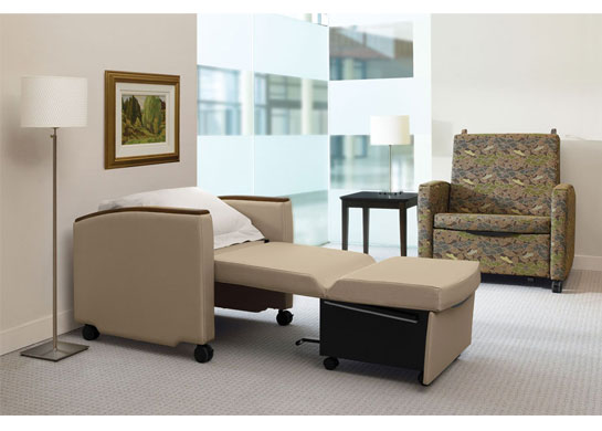 At-Eez chair sleepers fold out into a bed so you can sleep over.