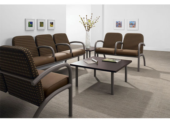 Aubra medical office furniture makes a great waiting area.