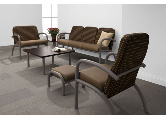 Aubra medical office furniture can also be used in patient rooms and guest rooms.